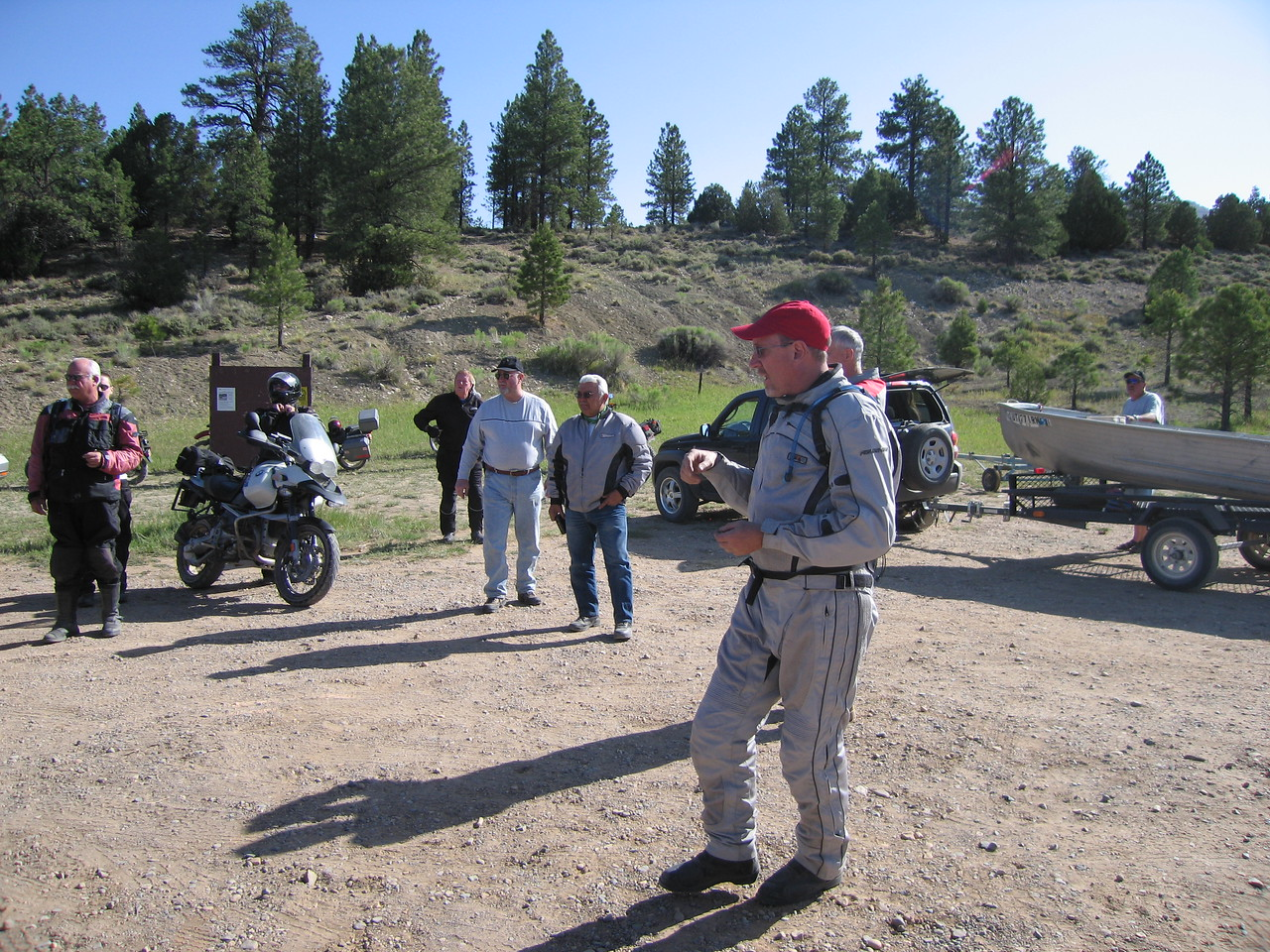 Ron gives us a break down of the ride at Pine Lake