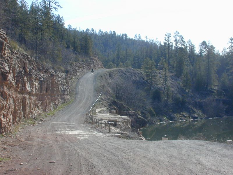 A steep gravel road with LOTS of washboard-d-d-d-d-d-d-ds!