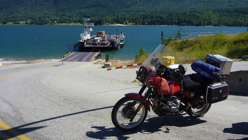 Late August 2011. Ride to Horizons Unlimited Nakusp. Waiting for the Needles/Fauquier cable ferry