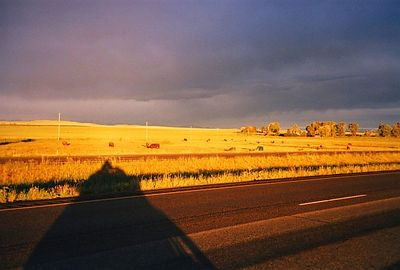 2d,ShadowRider2,on I-94,Near Whitehall,MT,July20,2001