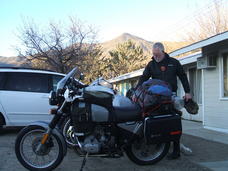 Steve Boice  ready to roll out of lake isabella