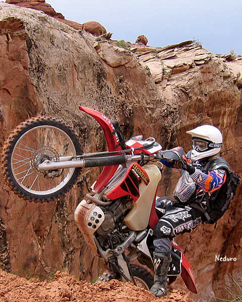 Neduro's buddy Grant in Moab (he lost it)
