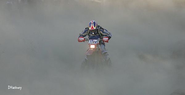 DHackney's shot of a Baja 100 rider in the silt