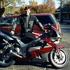 Marty with his ZX9R, Gisborne, 2003.