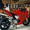 Rob Harper's VTEC VFR800. This was the day we saw Valentino Rossi at Peter Stevens store Geelong.