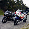 Terry's '95 CBR600 & my '93 CBR600 near Apollo Bay Vic