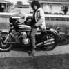 1975 - JP aboard the K2 Honda CB750 bought from Steve.