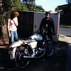 DP & Andy with his Commando pre resto. Mid 1980's?