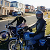 Visit from the boys, Steve's AJS & Andy's BMW  R75R, Highton, ? date