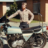 1979 - Peter Burns with the Kawasaki Z1R