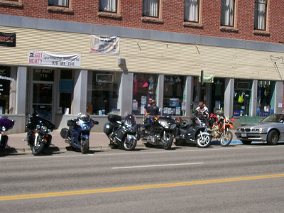 Parked across from Golden Burro, Leadville CO