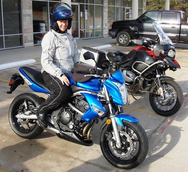 Joan's new Kawasaki