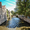 View from one of the many bridges in Brugge