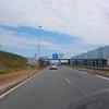 Leaving the Calais terminal