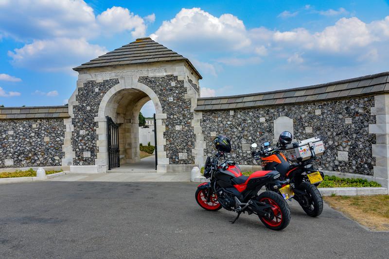 The bikes at Tyne Cot