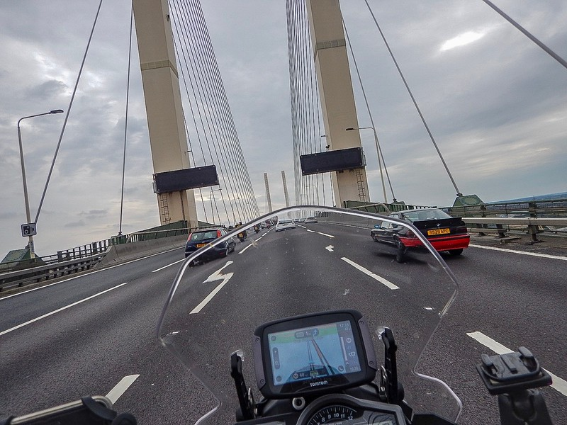 Crossing the Dartford bridge
