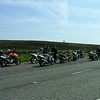 The sportbike riders stopped for a another smoke/pee/leg stretch.
