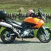 The KLV1000 looking great in the sun just outside Baslow, Derbyshire.