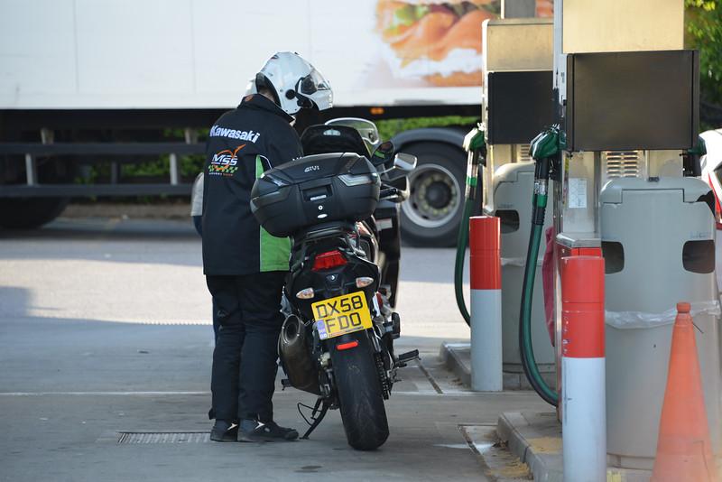 Steve filling up again.