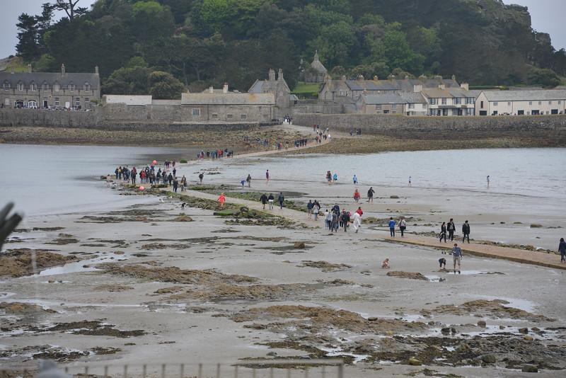 Walking across at low tide