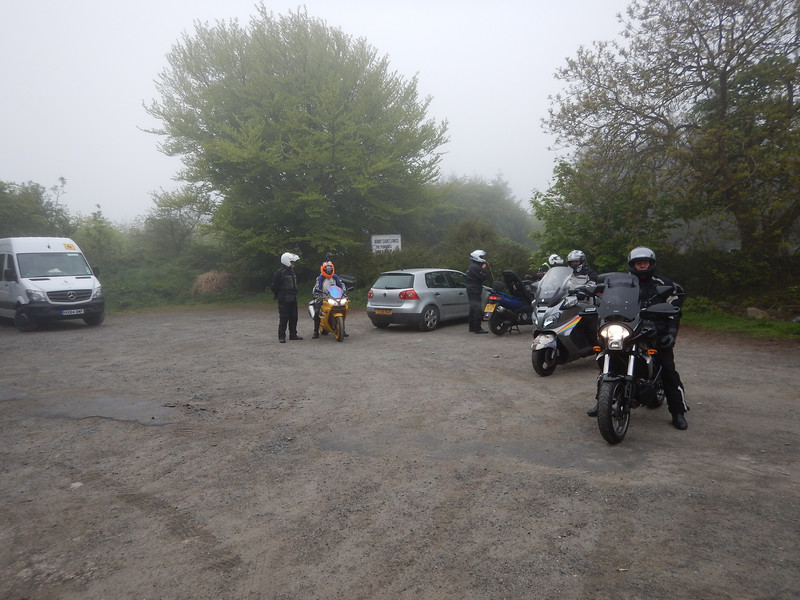 In the Bunkhouse Car Park. Princetown. Just leaving for Landsend