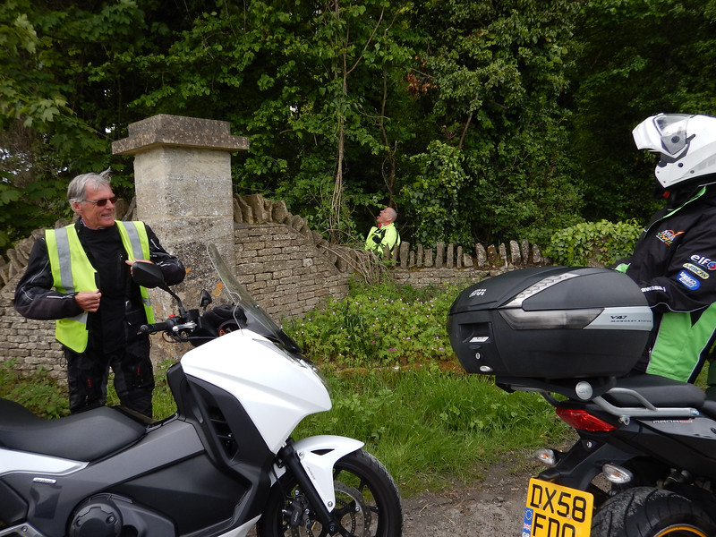 Alan having another pit stop near Northleach