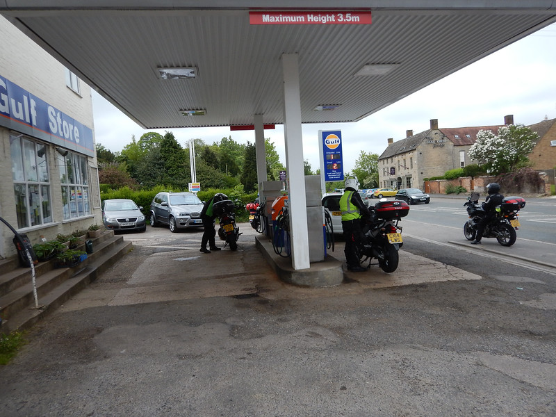 Stopping on the A429 at Halford for Fuel
