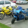 Dave's ZX7R Next to my Storm.