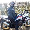 Bullet on his new Africa Twin.