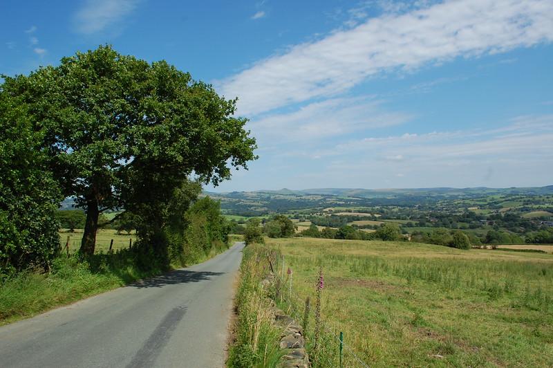 Top Road, Biddulp Moor. Looking North