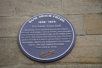 Dame Gracie Fields at Rochdale town hall.