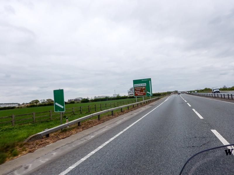 Passing Snetterton circuit.