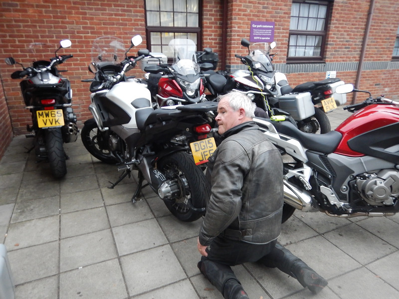 Parking up at the Premier Inn.