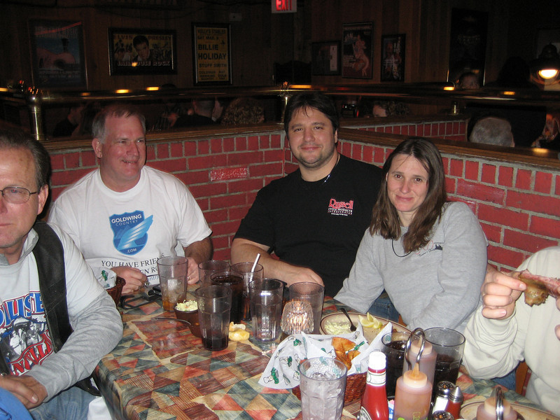Leslie, Jim, Jason, Debbie and Don's greasy fingers.