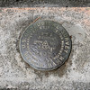 USGS benchmark at the dam.