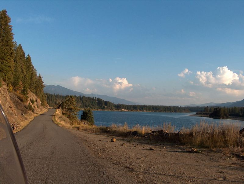 Jumped off the State Highway and rode this county road on the other side of the river.