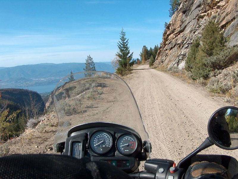 Abandoned RR turned trail over Kelowna. The views up there were spectacular!