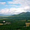 Panoramic view off Cathedral Ledge in North Conway, NH.