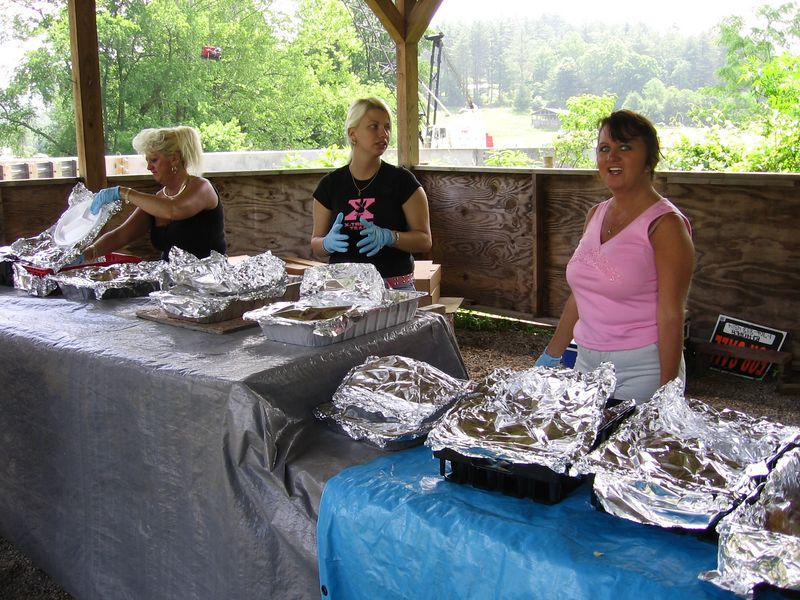 The ladies didn't let the riders go away hungry.