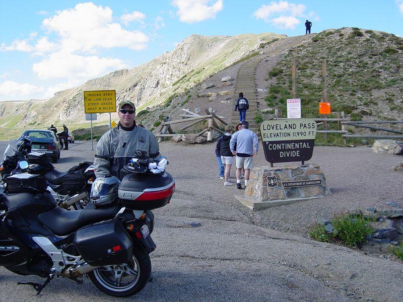 Dave Cooper at Loveland Pass.