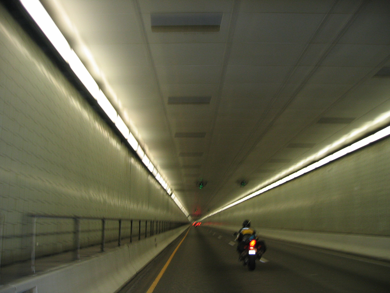 This is Dave (not Dave Cooper) riding his Honda CBR1100XX Blackbird through the Eisenhower Tunnel.