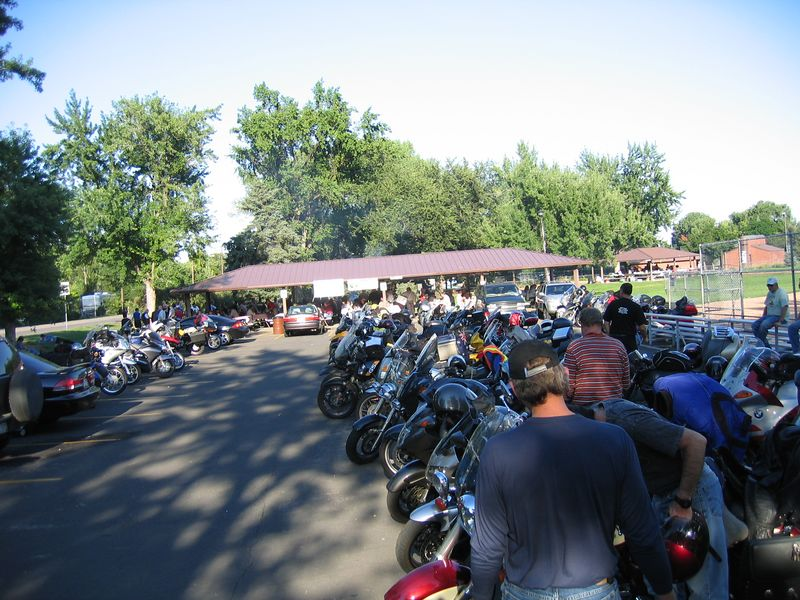 Bikes at the picnic.<br /> <br /> It was a great ride through some beautiful Colorado scenery, and the weather was perfect.
