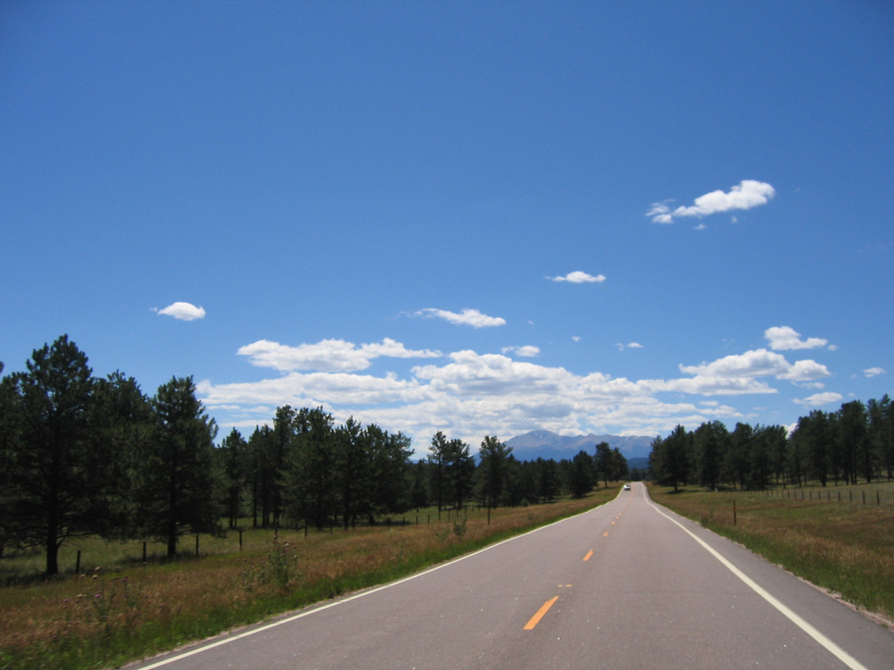 I really enjoy the ride from Pine Junction to Woodland Park.  It is a classic motorcycle road.  The second checkpoint is at a scenic overlook just south of Buffalo Creek.  We stop to pick-up our lunch tickets, and contineu our way.  Jeff takes a longer break here, so we part ways at this point.
