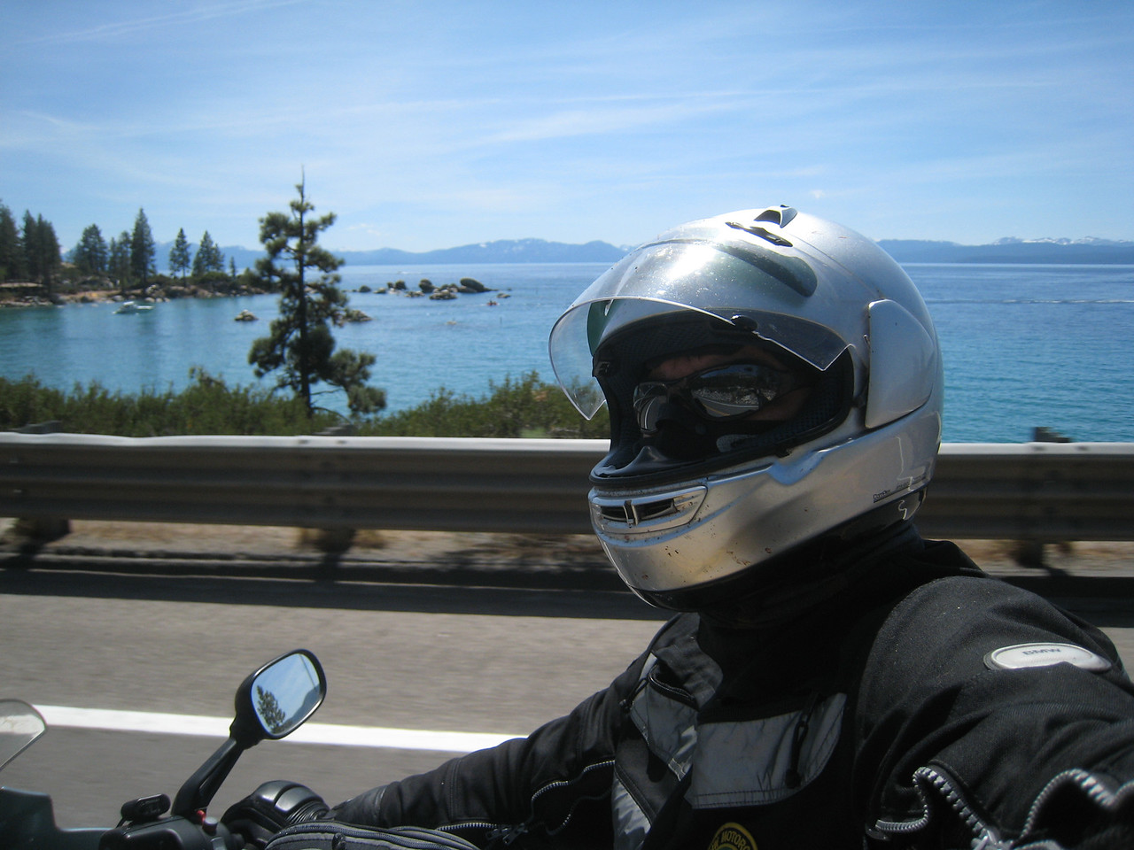 I exit at Truckee, and ride around Lake Tahoe as I find my way home.  The rear drive shows no other signs of problems, and I return home uneventfully.<br /> <br /> The view of the lake caps a great weekend.