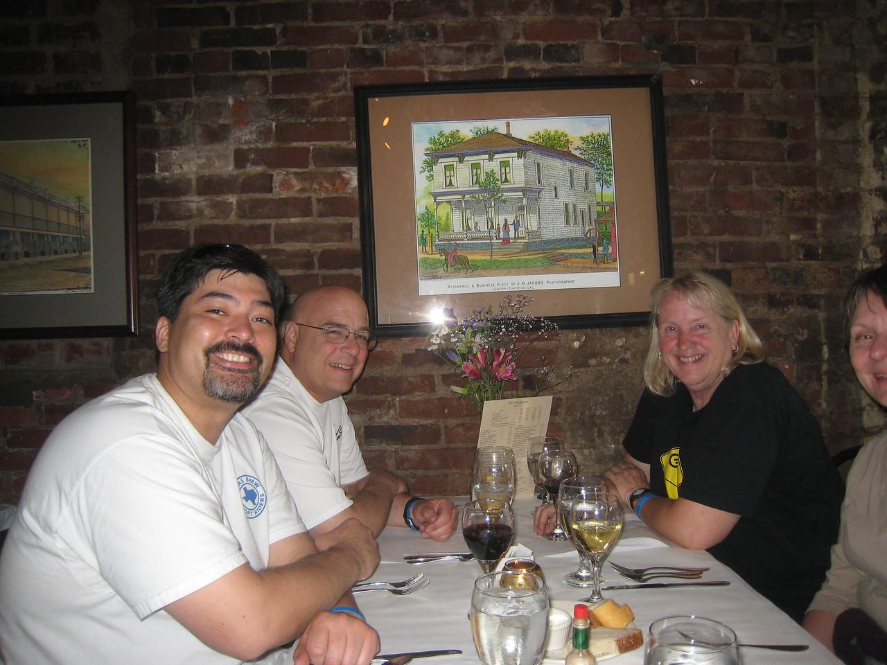 ... at the Bootlegger restaurant in Old Town Auburn.