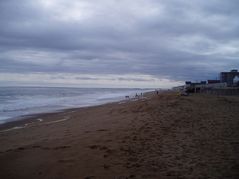 We arrived at Salisbury beach around 11:30.  It was overcast and cold.