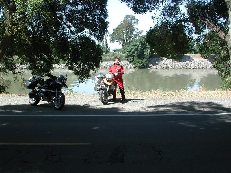 Santa leads the way through the Sacramento River Delta
