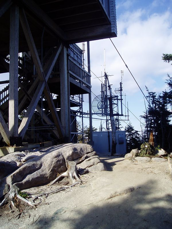 Base of the Cannon Mountain tower