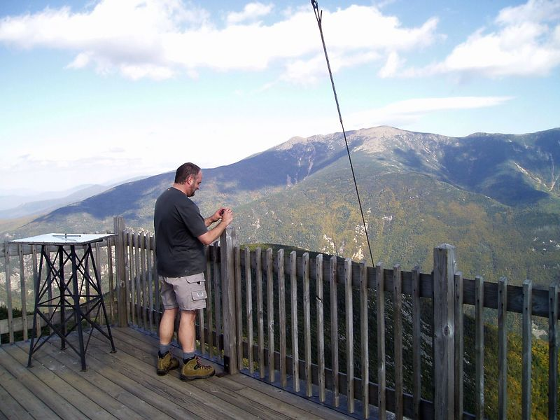 On the Cannon Mountain tower