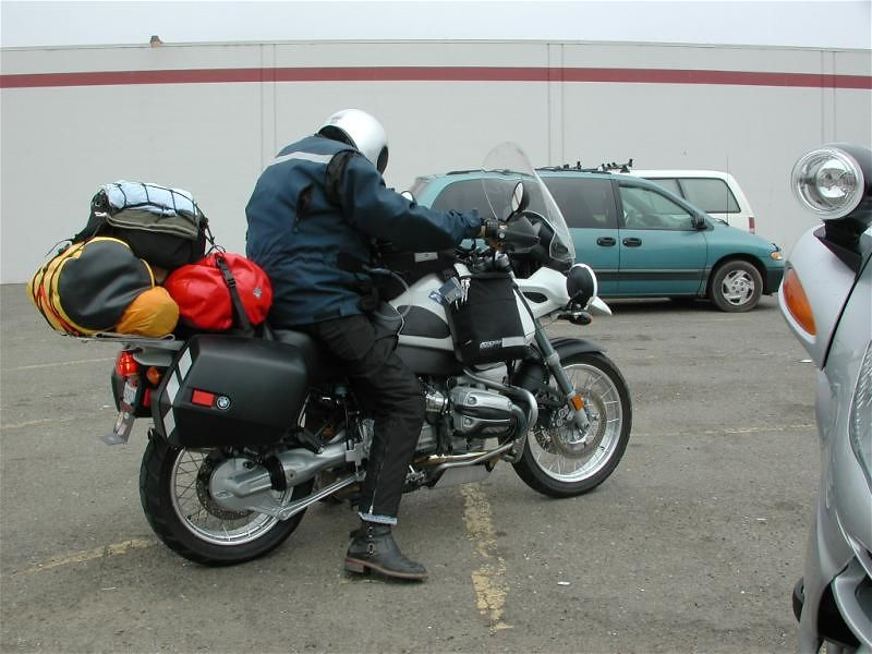 Gerg - geared up and ready to roll.